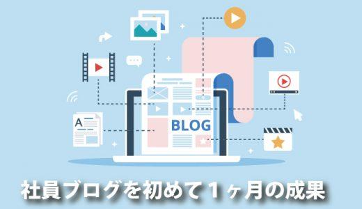 社員ブログを始めて1か月。アクセス数はどうなのか?